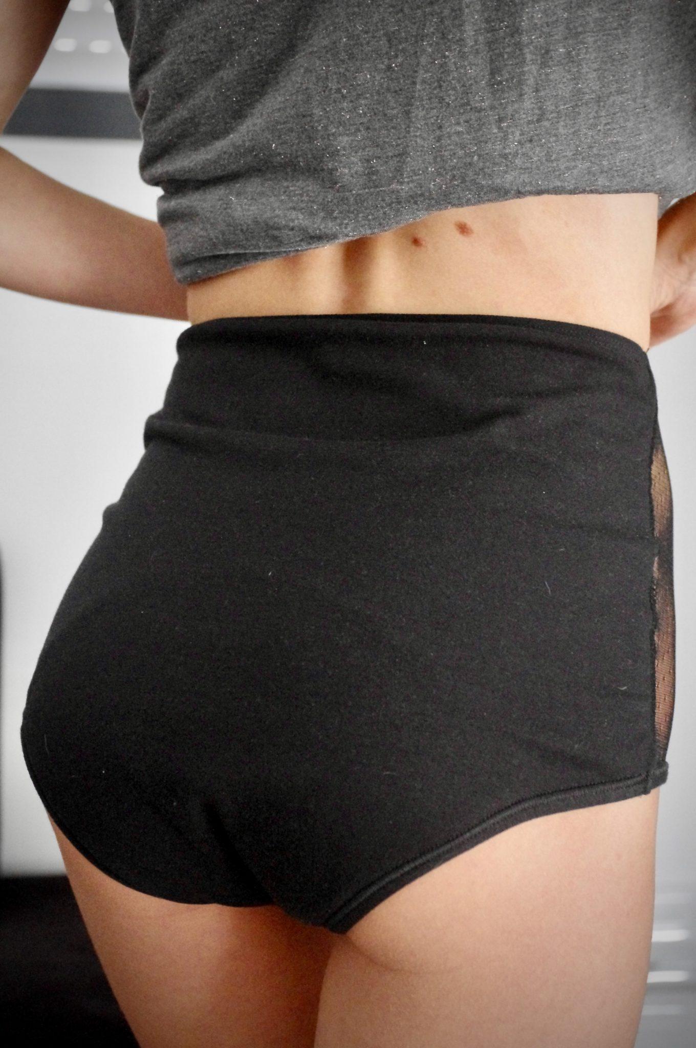 culotte menstruelle taille haute dos