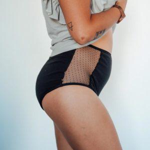 culotte menstruelle taille haute pour les flux abondant et la nuit